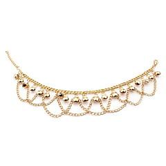 baratos Bijoux de Corps-Camadas Franjas Tornezeleira - Banhado a Ouro 18K Borla, Boêmio, Europeu Dourado Para Casamento Festa Diário Mulheres