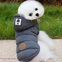 Köpek Paltolar Kapüşonlu Giyecekler Köpek Giyimi Solid Gri Mavi Pamuk Kostüm Evcil hayvanlar için Erkek Kadın's Sıcak Tutma Moda