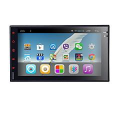 billiga DVD-spelare till bilen-7 inch 2 Din 800 x 480 Android 4.4 Bildvd-spelare för Universell Inbyggd Bluetooth GPS RDS Rattstyrning Wifi Spel Pekskärm Android Stöd