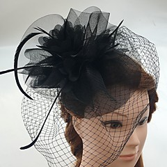 tulle feather netto fascinators birdcage sluier hoofddeksels elegante stijl