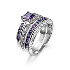 voordelige Damessieraden-Dames Zirkonia Ring - Zirkonia Modieus 6 / 7 / 8 Paars Voor Bruiloft / Dagelijks / Causaal