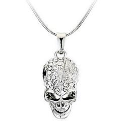 Erkek Kadın Uçlu Kolyeler Skull shape alaşım Moda Kişiselleştirilmiş Mücevher Uyumluluk Günlük