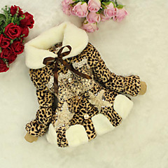 tanie Odzież dla dziewczynek-Odzież puchowa / pikowana Inne Dla dziewczynek Codzienny Wielokolorowa Zima Długi rękaw Kokarda Fuchsia Brown Różowy