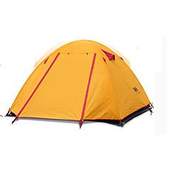 billige Telt og ly-Naturehike 3-4 personer Telt Dobbelt camping Tent Ett Rom Familietelt Velventilert Bærbar Ultra Lett (UL) Vindtett Sammenleggbar Pusteevne