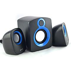 Boghylde computer højttaler 2.1 CH Bærbar super bas LED Lampe Stereo Surround sound