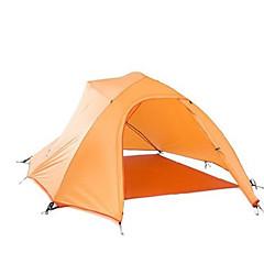 billige Telt og ly-Naturehike 3-4 personer Telt Utendørs Vindtett, Vanntett, Bærbar Dobbelt Lagdelt camping Tent >3000 mm til Jakt Camping Utendørs Silikon, polyester, Aluminium / Regn-sikker