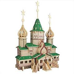 Puzzles Holzpuzzle Bausteine DIY Spielzeug Kämpfer Berühmte Gebäude 1 Holz Elfenbein Model & Building Toy