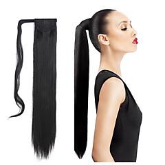 Χαμηλού Κόστους Αλογοουρές-Κουμπωτό Αλογορουρές / Κομμάτι μαλλιών Συνθετικά μαλλιά Κομμάτι μαλλιών Hair Extension Ίσιο / Ίσια