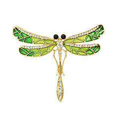 Fashion Rhinestone Enamel Butterfly Shape Brooches for Women