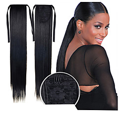 cheap Wigs & Hair Pieces-excellent quality synthetic 22 inch long straight ribbon ponytail hairpiece 16 colors available