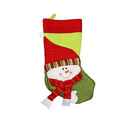 저렴한 -크리스마스 장난감 선물 백 홀리데이 용품 3Pcs 크리스마스 텍스타일 실버 아이보리 화이트
