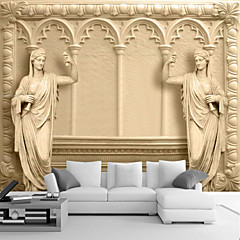 cheap Wall Art-Art Deco 3D Home Decoration Classical Wall Covering, Canvas Material Adhesive required Mural, Room Wallcovering
