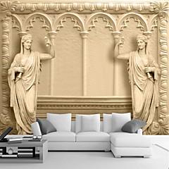 billige Vegglamper-Art Deco 3D Hjem Dekor كلاسيكي Tapetsering, Lerret Materiale selvklebende nødvendig Veggmaleri, Tapet