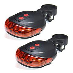 youoklight 2個5LED 2laserサイクリング自転車自転車ライト7フラッシュモード安全リアランプ防水レーザーテール警告灯5点滅2レーザーを主導