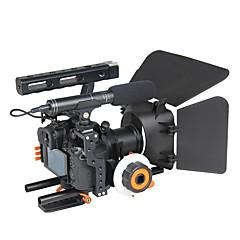 yelangu montage dslr populaire caméra cage épaule kit rig c500 contient follow focus matte support de boîte caméras universelles