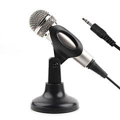 NO Kablolu Karaoke Mikrofonu 3.5mm Gümüş