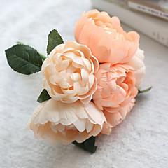 ieftine -1 ramură Mătase Bujori Față de masă flori Flori artificiale 24*24*27