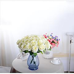 ieftine -1 ramură Poliester Orhidee Trandafiri Față de masă flori Flori artificiale 50