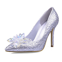2017 New Arrivals Women's Shoes Best Seller Synthetic/Glitter Stiletto Heel Heels/Pointed Toe Pumps/Heels Wedding/Party & Evening/Dress Silver