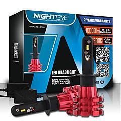 NIGHTEYE 1 Pair H1 Led Auto Car Headlight 60W 10000LM 6500K  Automobile Led Bulb PHILIPS ZES Led Car Lighting Kits