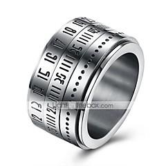 Heren Ring Sieraden Cirkelvormig ontwerp Kostuum juwelen Roestvrij Staal Ronde vorm Sieraden Voor Dagelijks Causaal