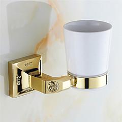 cheap -Toilet Brush Holder Neoclassical Brass 1 pc - Hotel bath