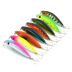 "cheap Fishing Lures & Flies-8 pcs Hard Bait Minnow Fishing Lures Minnow Hard Bait g / 5/16 oz. Ounce/pc mm / 2-5/16"" Inches/pc Hard Plastic Stainless Steel / Iron"