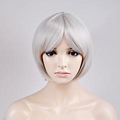 tanie Peruki syntetyczne-Peruki syntetyczne Prosto Fryzura Bob Gęstość Bez czepka Damskie Biały Karnawałowa Wig Halloween Wig Peruka naturalna Krótki Włosy