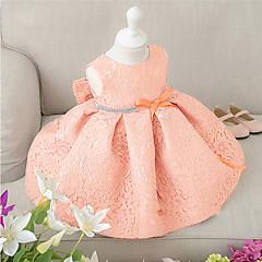 billige Babytøj-Baby Pige Rosette / Pænt tøj Fest Blomstret Kortærmet Kjole