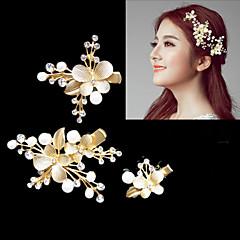 קריסטל סגסוגת קליפס לשיער כומתה זרי פרחים כיסוי ראש