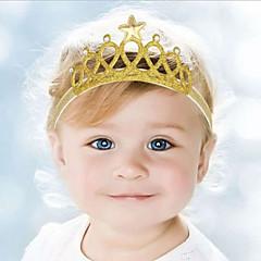Χαμηλού Κόστους Παιδικά Αξεσουάρ-Κοριτσίστικα Αγορίστικα Αξεσουάρ Μαλλιών Κεφαλόδεσμοι Όλες οι εποχές Μείγμα Βαμβακιού - Χρυσό Ασημί