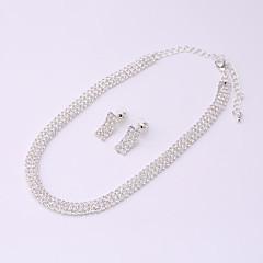 Gerdanlıklar Yapay Elmas Yapay Elmas Basic Tasarım Euramerican Dayanıklı Moda Kişiselleştirilmiş Gümüş Mücevher IçinDüğün Parti Nişan