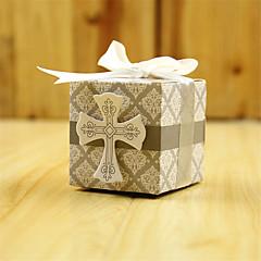 50 Stuk/Set Bedankjeshouder-Kubusvormig Kaart Papier Bedank Doosjes Niet-gepersonaliseerde