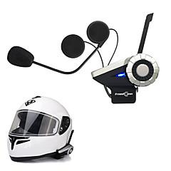 インターホンFMラジオ、無線のBluetoothヘルメットインターコムヘッドセットBT freedconnの1pcs T-REX全二重1500メートル8ウェイオートバイのグループトークシステム
