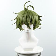 billiga Peruker och hårförlängning-Syntetiska peruker Rak Syntetiskt hår Grön Peruk Dam Korta Utan lock