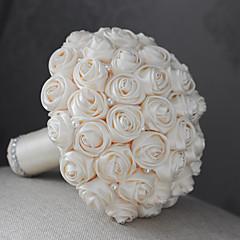 "Flori de Nuntă Rotund Trandafiri Buchete Nuntă Satin 6.69""(Approx.17cm)"