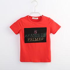 baratos Roupas de Meninos-Bébé Para Meninos Estampa Colorida Manga Curta Algodão Camiseta