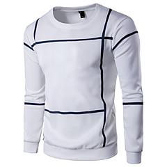 Herrer Daglig Sport Afslappet Aktiv Plusstørrelser Sweatshirt Stribet Farveblok Rund hals Bomuld Rayon Mikroelastisk Langt Ærme Forår