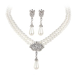 cheap -Imitation Pearl Party Casual Pearl 1 Necklace 1 Pair of Earrings