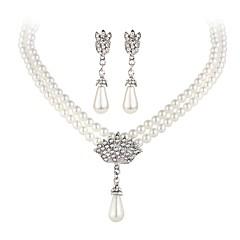 tanie -Pearl imitacja Impreza Casual Perłowy 1 Naszyjnik 1 parę kolczyków