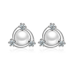 cheap Earrings-Stud Earrings - Imitation Pearl White For Wedding / Party / Daily / Casual