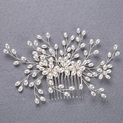 cheap Party Headpieces-Imitation Pearl Alloy Headbands Hair Stick 1 Wedding Special Occasion Headpiece