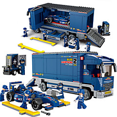 Sluban Sluban אבני בניין מכוניות צעצוע צעצועים בניין צעצועים מכוניתF1 מכונית מרוץ צעצועים מכונית בנים נערים 641 חתיכות