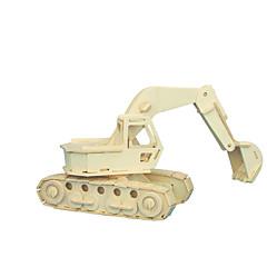tanie Gry i puzzle-Klocki Zabawki 3D Puzzle Drewniane puzzle Zabawka edukacyjna Maszyna Koparka profesjonalnym poziomie DIY Drewniany Boże Narodzenie