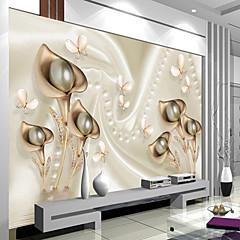 billige Tapet-tilpasset tapet veggmaleri preget lilje stue soverom tv bakgrunnsvegg448 × 280cm
