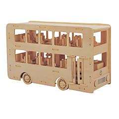 olcso -Jigsaw Puzzle Barkács készlet Építőkockák 3D építőjátékok Fejlesztő játék Fejtörő Fából készült építőjátékok Építőkockák DIY játékok Busz