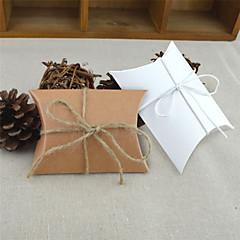 baratos Suporte para Lembrancinhas-Redonda Quadrada Almofadado Papel de Cartão Suportes para Lembrancinhas com Fitas Estampado Caixas de Ofertas