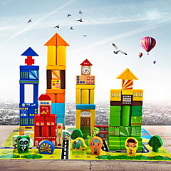 Magnetspielsachen Bausteine 1 Stücke Spielzeuge Holz Magnetisch Burg Geschenk