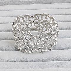 billige -Manchetarmbånd Vintage Legering Sølv Smykker For Fest Speciel Lejlighed Fødselsdag 1 Stk.