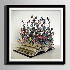 baratos Quadros com Moldura-Quadros Emoldurados Conjunto Emoldurado Animais Fantasia Arte de Parede, PVC Material com frame Decoração para casa Arte Emoldurada Sala